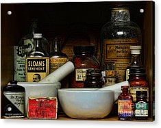 Pharmacist - Cod Liver Oil And More Acrylic Print by Paul Ward