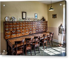 Pharmacists Drugs Acrylic Print by Adrian Evans