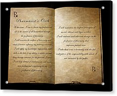 Pharmacist's Oath Acrylic Print by Cecil Fuselier