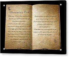 Pharmacist's Oath Acrylic Print