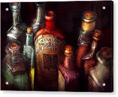Pharmacy - A Safe Rheumatic Cure  Acrylic Print by Mike Savad