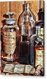 Pharmacy - Chloroform Throat Lozenges Acrylic Print by Paul Ward