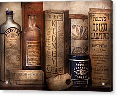 Pharmacy - Cures For The Bowels Acrylic Print by Mike Savad