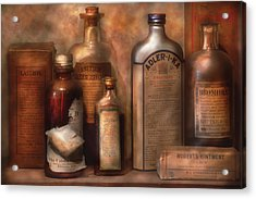 Pharmacy - Indigestion Remedies Acrylic Print by Mike Savad