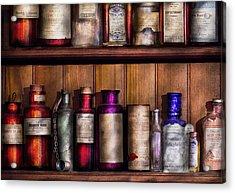 Pharmacy - Ingredients Of Medicine  Acrylic Print by Mike Savad