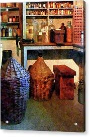 Pharmacy - Medicine Bottles And Baskets Acrylic Print