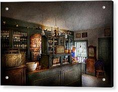Pharmacy - Morning Preparations Acrylic Print by Mike Savad