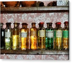 Pharmacy - Old Fashioned Remedies Acrylic Print by Susan Savad