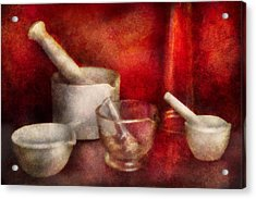 Pharmacy - Pestle - Endless Variety  Acrylic Print by Mike Savad