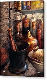 Pharmacy - Pestle - Pharmacology Acrylic Print by Mike Savad