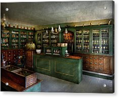 Pharmacy - The Chemist Shop  Acrylic Print by Mike Savad