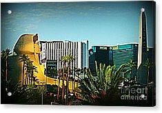 Pharoh Of Vegas Acrylic Print by John Malone