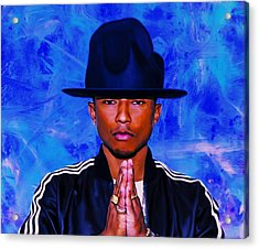 Pharrell Williams Peace On Earth Acrylic Print