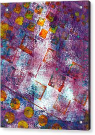 Phase Series - Picking Up The Pieces Acrylic Print by Moon Stumpp