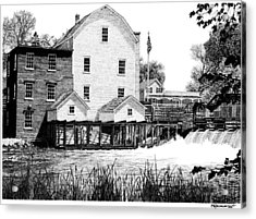 Phelps Mill Acrylic Print by Rob Christensen