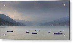Phewa Lake In Pokhara Acrylic Print