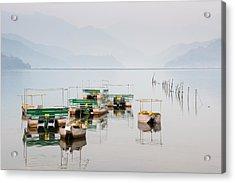 Phewa Lake In Pokhara Nepal Acrylic Print