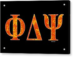 Phi Delta Psi - Black Acrylic Print by Stephen Younts