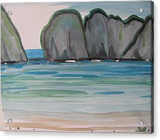 Acrylic Print featuring the painting Phi Phi Island by Vikram Singh