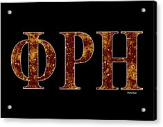 Phi Rho Eta - Black Acrylic Print by Stephen Younts