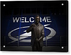 Acrylic Print featuring the photograph Phil Esposito Says II by Ben Shields