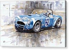Phil Hill Ac Cobra-ford Targa Florio 1964 Acrylic Print by Yuriy Shevchuk
