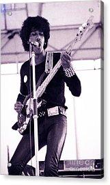 Phil Lynott Of Thin Lizzy Black Rose Star Effect Day On The Green 4th Of July 1979 - Unreleased No 3 Acrylic Print