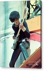 Phil Lynott Of Thin Lizzy - Black Rose Tour Day On The Green 7-4-79  Acrylic Print