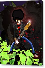 Phil Lynott Of Thin Lizzy Acrylic Print