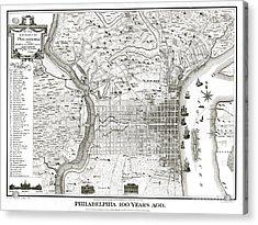 Philadelphia - Pennsylvania - United States - 1875 Acrylic Print by Pablo Romero