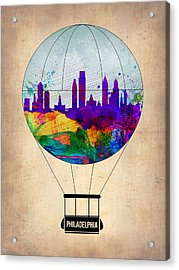 Philadelphia Air Balloon Acrylic Print
