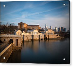 Philadelphia Art Museum And Waterworks Acrylic Print by Aaron Couture