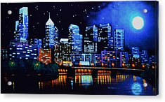 Philadelphia Black Light Acrylic Print