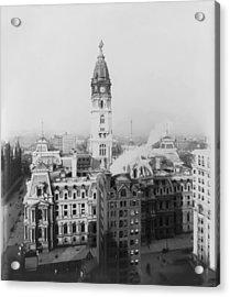 Philadelphia City Hall 1900 Acrylic Print by Bill Cannon