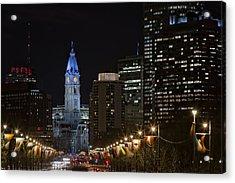Philadelphia City Hall Acrylic Print by Eduard Moldoveanu