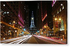 Philadelphia City Hall -- Night Acrylic Print