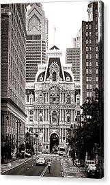 Philadelphia City Hall Acrylic Print by Olivier Le Queinec