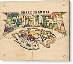 Philadelphia Eagles Poster Art Acrylic Print