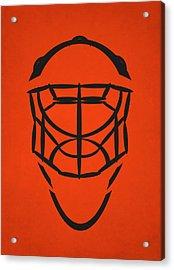 Philadelphia Flyers Goalie Mask Acrylic Print by Joe Hamilton