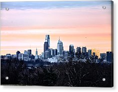 Philadelphia From Belmont Plateau Acrylic Print by Bill Cannon