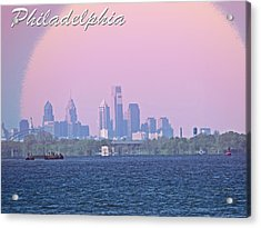 Philadelphia  Acrylic Print by Tom Gari Gallery-Three-Photography
