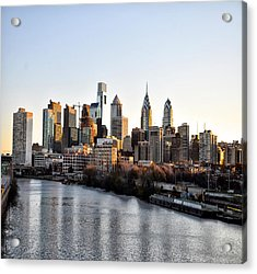 Philadelphia In The Morning Light Acrylic Print by Bill Cannon