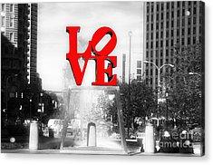 Philadelphia Love Fusion Acrylic Print by John Rizzuto