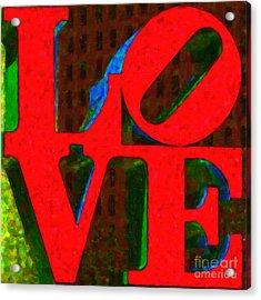 Philadelphia Love - Painterly V1 Acrylic Print by Wingsdomain Art and Photography