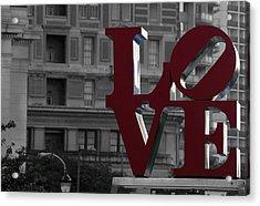 Philadelphia Love Acrylic Print by Terry DeLuco