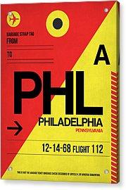 Philadelphia Luggage Poster 2 Acrylic Print