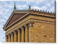 Philadelphia Museum Of Art Column Details Acrylic Print