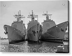 Philadelphia Navy Yard B - W  Acrylic Print