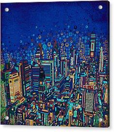 Philadelphia Panorama Pop Art 2 Acrylic Print