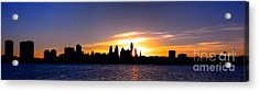 Philadelphia Panoramic Sunset Acrylic Print by Olivier Le Queinec